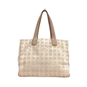 Auth Chanel New Travel Line Mm Tote Bag #19604C19B